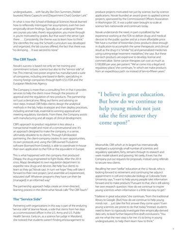 Page 11 of Alumni Profile: Jeanne Novak | CBR