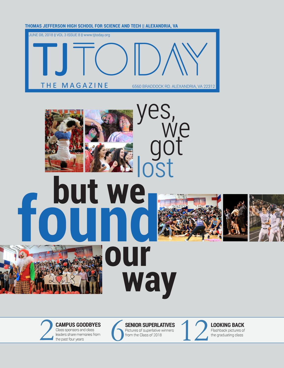 2018 Senior Issue By Tjtoday Online Issuu