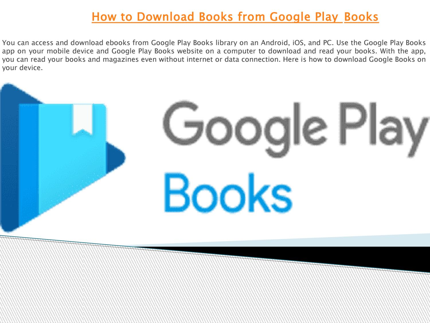 How to Download Books from Google Play Books by Sofia Martine - issuu