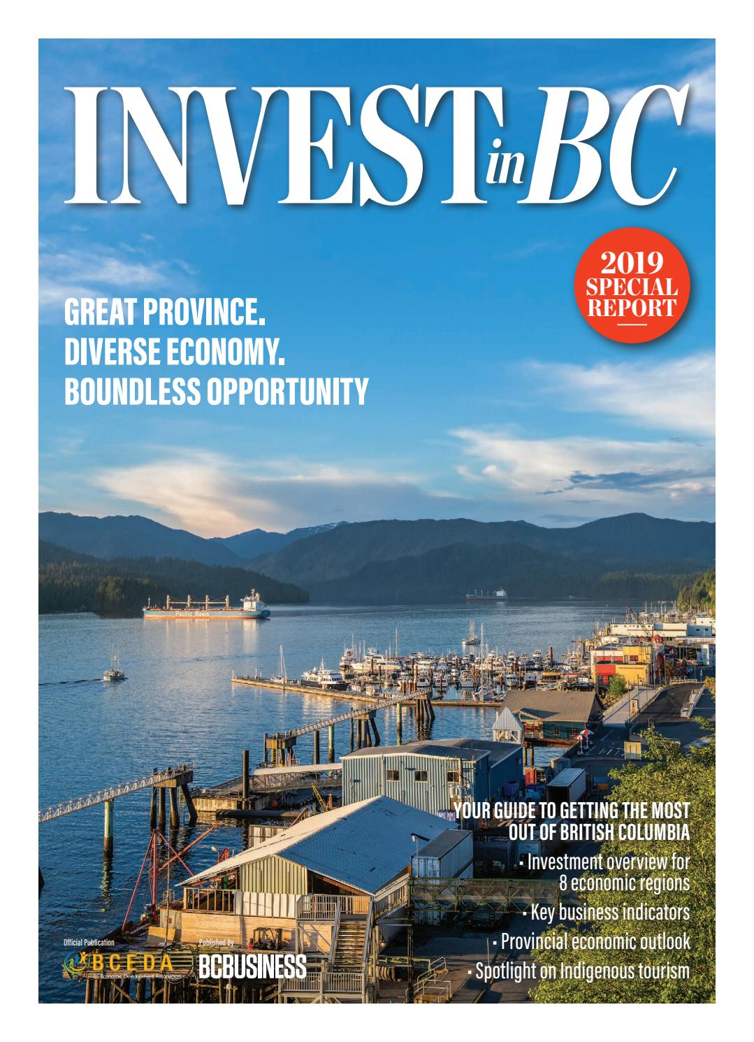 Invest in BC 2019 by Canada Wide Media - issuu