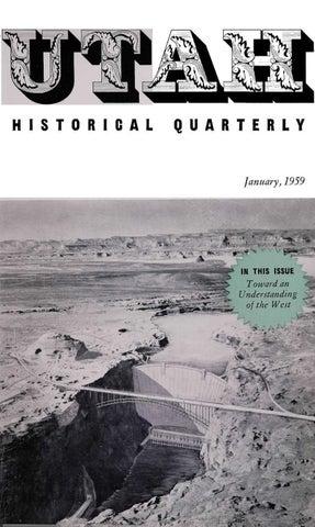 Utah Historical Quarterly Volume 27 Number 1 1959 By Utah State History Issuu