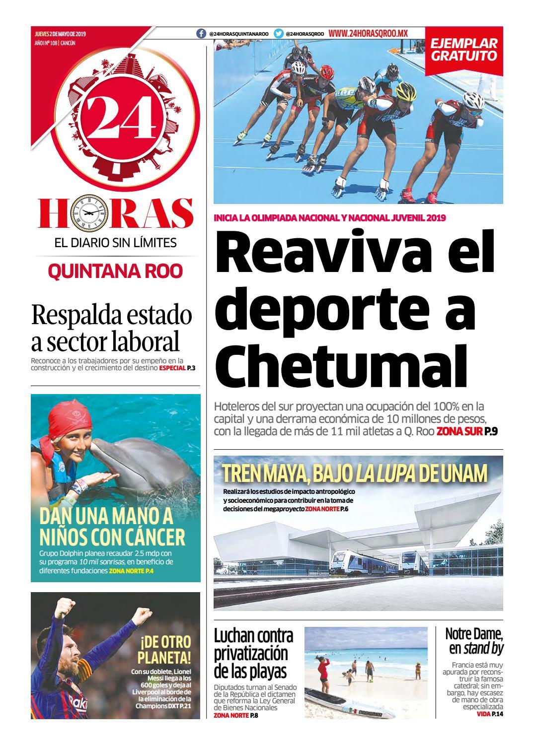 ab82559e5503 24 Horas Quintana Roo  2 de Mayo 2019 by 24 Horas Quintana Roo - issuu