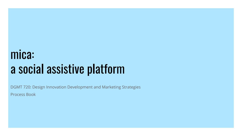 Mica: a Social Assistive Platform by archanamani08 - issuu