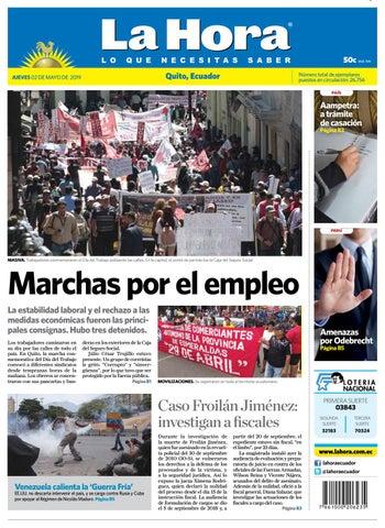 e62f5145035b Quito 02 de mayo de 2019 by Diario La Hora Ecuador - issuu