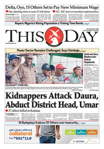 THURSDAY 2ND MAY 2019 by THISDAY Newspapers Ltd - issuu