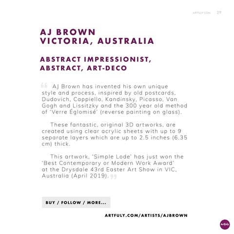 Page 29 of AJ Brown, Australian 3D Artist wins award