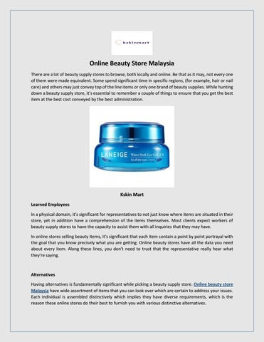Online Beauty Store Malaysia - Kskin Mart by Alexei Turner
