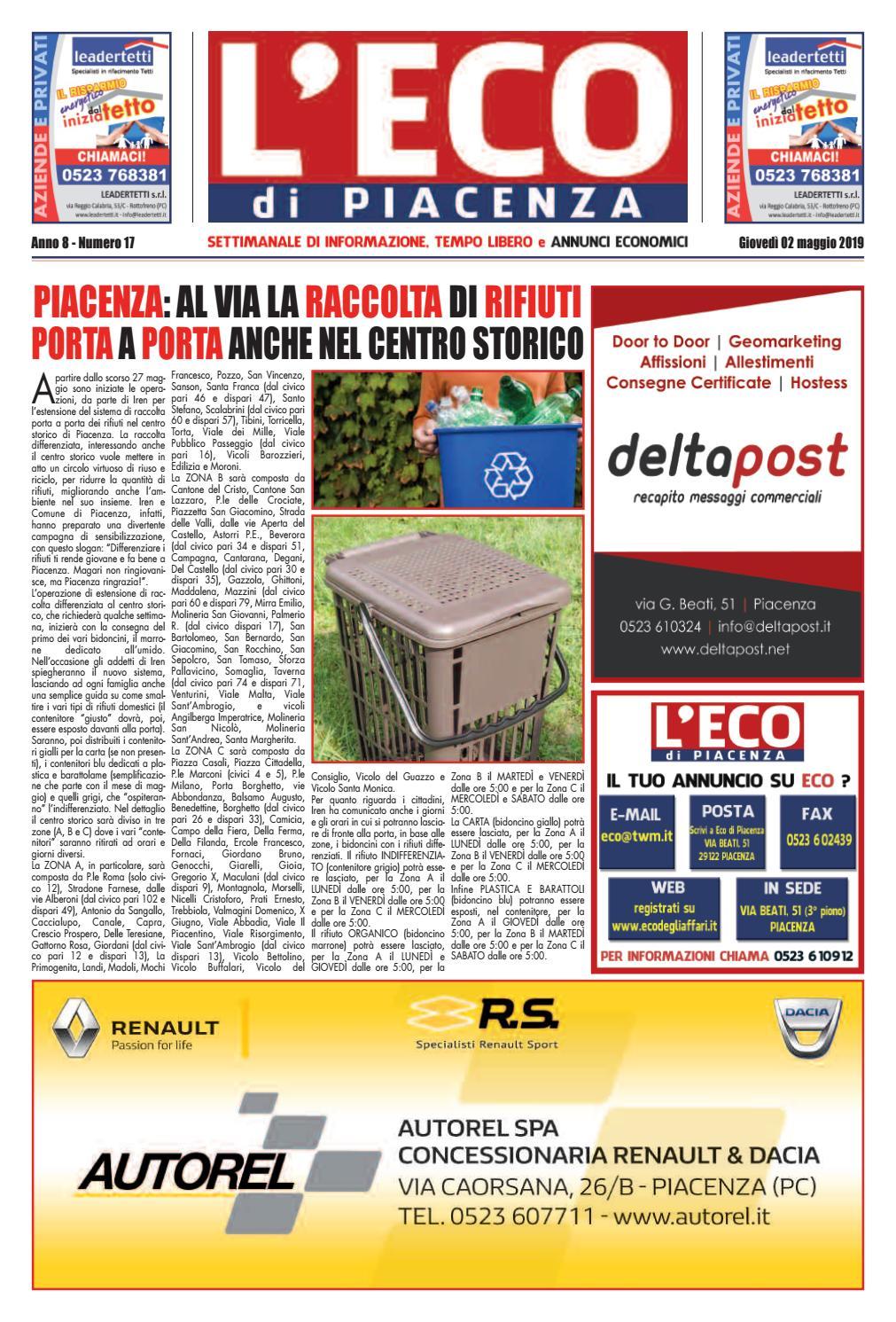 5a9f320e54 Eco di Piacenza 02/05/2019 by Eco di Piacenza - issuu
