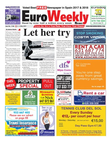 c3a7d7a89 Euro Weekly News - Costa del Sol 2 - 8 May 2019 Issue 1765 by Euro ...