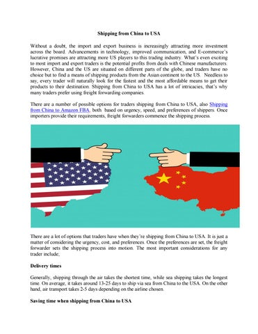 Shipping from China to USA by China Freight - issuu