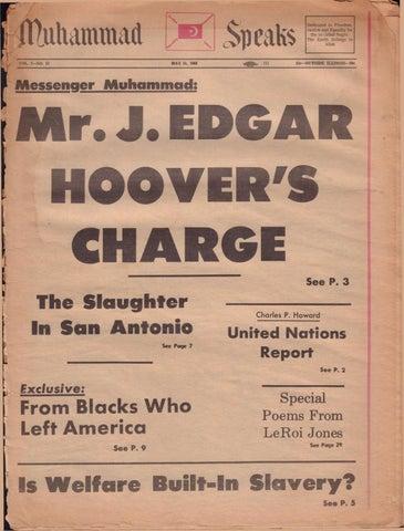 Muhammad Speaks Newspaper, May 31, 1968 by Muhammad Speaks