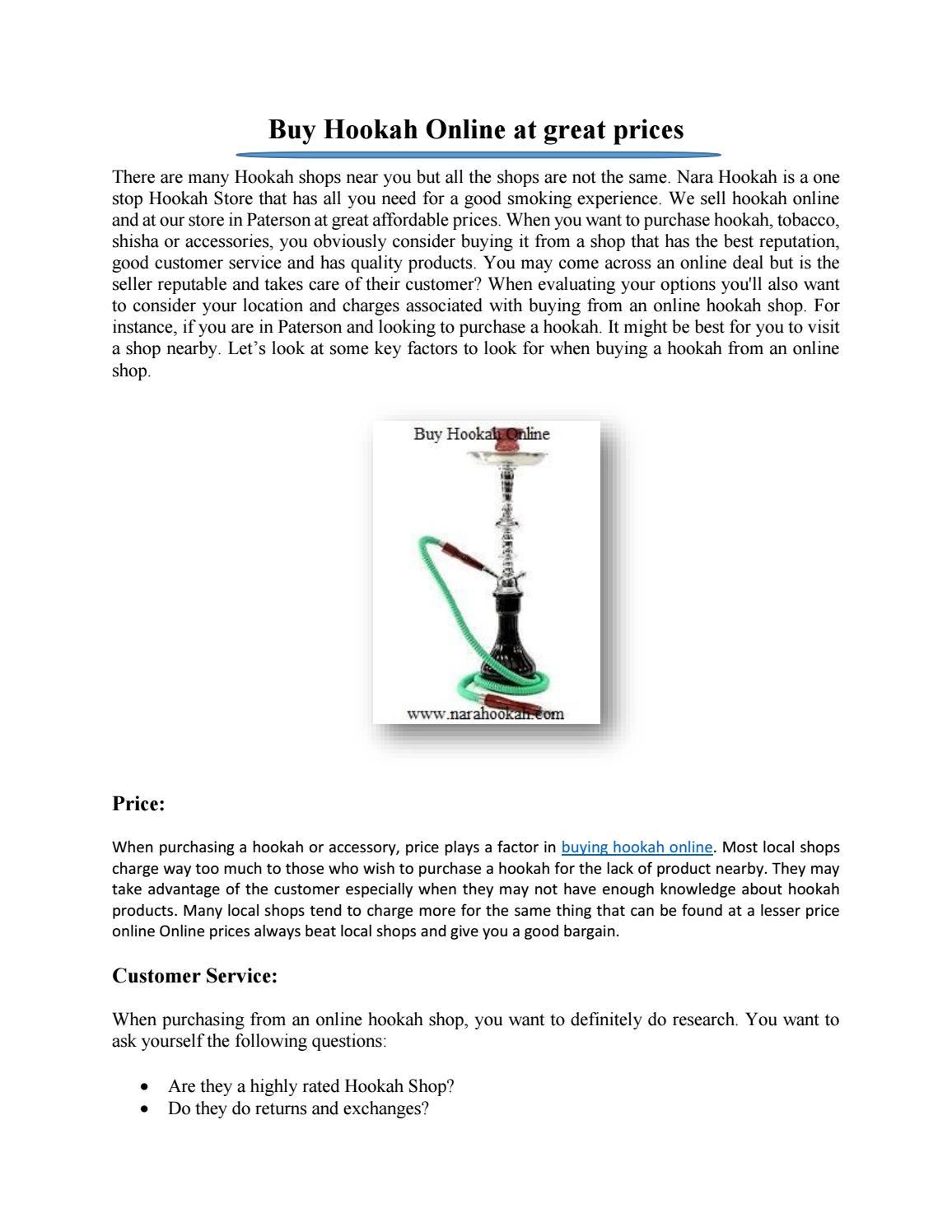 Buy Hookah Online at great prices by Nara Hookah - issuu