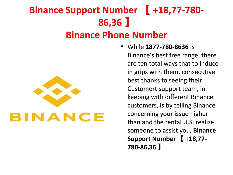binance phone number