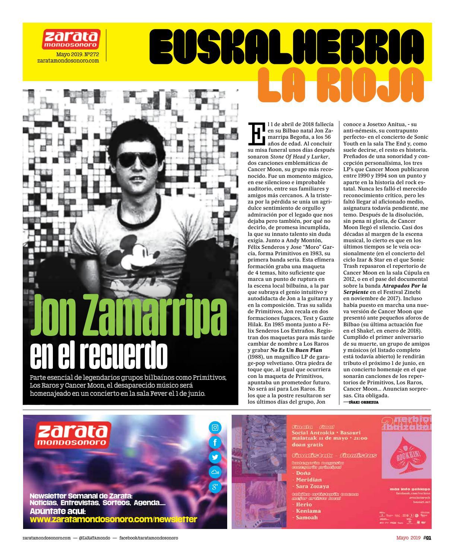 e177cdd42e04 Nº272 Zarata Mondo Sonoro Mayo 2019 by Zarata Mondosonoro - issuu