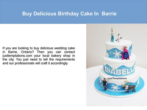 Excellent Buy Birthday Cake Barrie By Justtemptations Issuu Funny Birthday Cards Online Barepcheapnameinfo