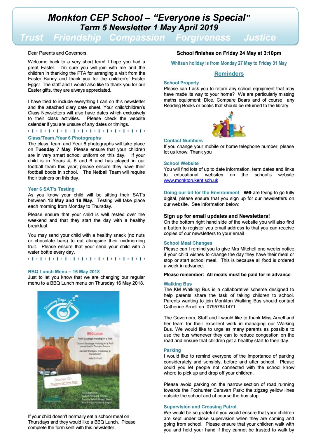 Summer Term 1 Newsletter 2019 by Schudio - issuu