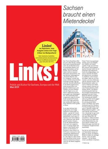 d4d4aa42e267b7 LINKS! Ausgabe 05/2019 by LINKS! Politik und Kultur für Sachsen ...