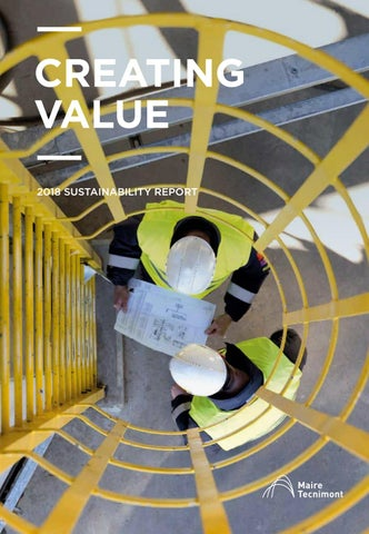 Page 1 of Creating Value 2018 Sustainability Report