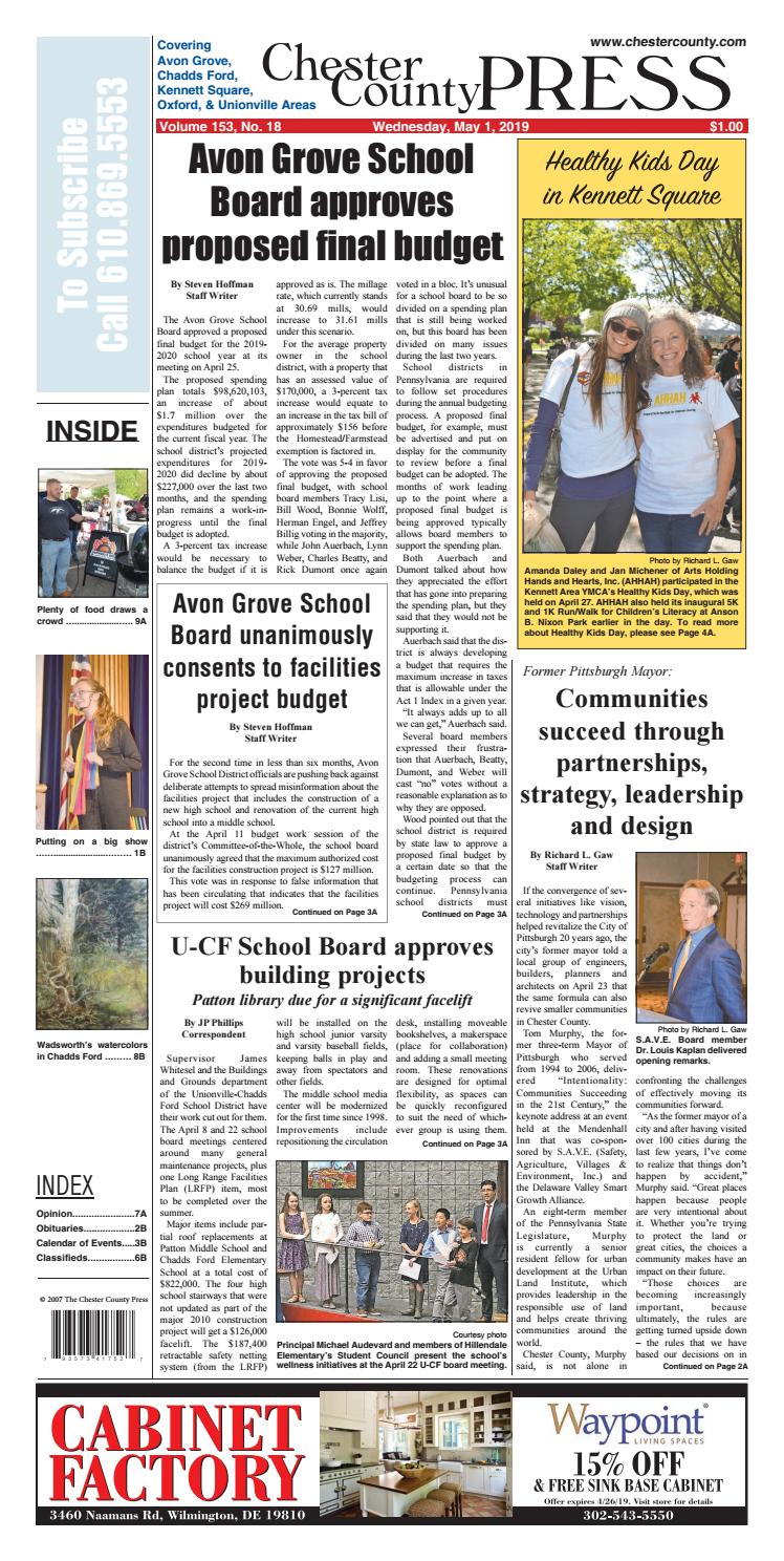 Chester County Press 05-01-2019 Edition