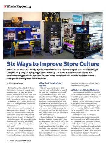 Page 14 of Six Ways to Improve Store Culture