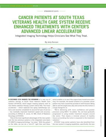 Page 50 of Cancer Patients at South Texas Veterans Health System Receive Enhanced Treatment with Center's Advanced Linear Accelerator (SPONSORED BY ELEKTA)