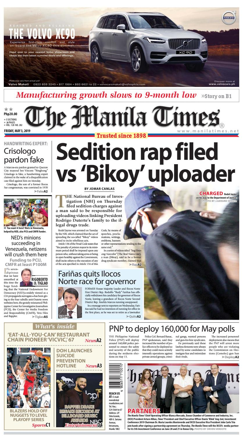 THE MANILA TIMES   MAY 03, 2019 by The Manila Times - issuu