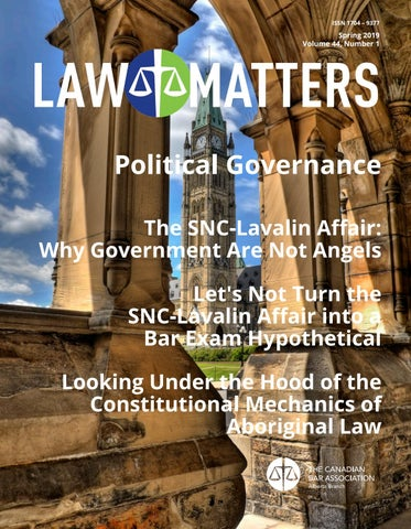Law Matters   Spring 2019 by Canadian Bar Association, Alberta