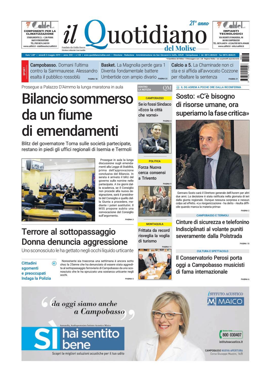 2a36db9f5a5e quotidiano del 03-05-19 by redazionecb - issuu
