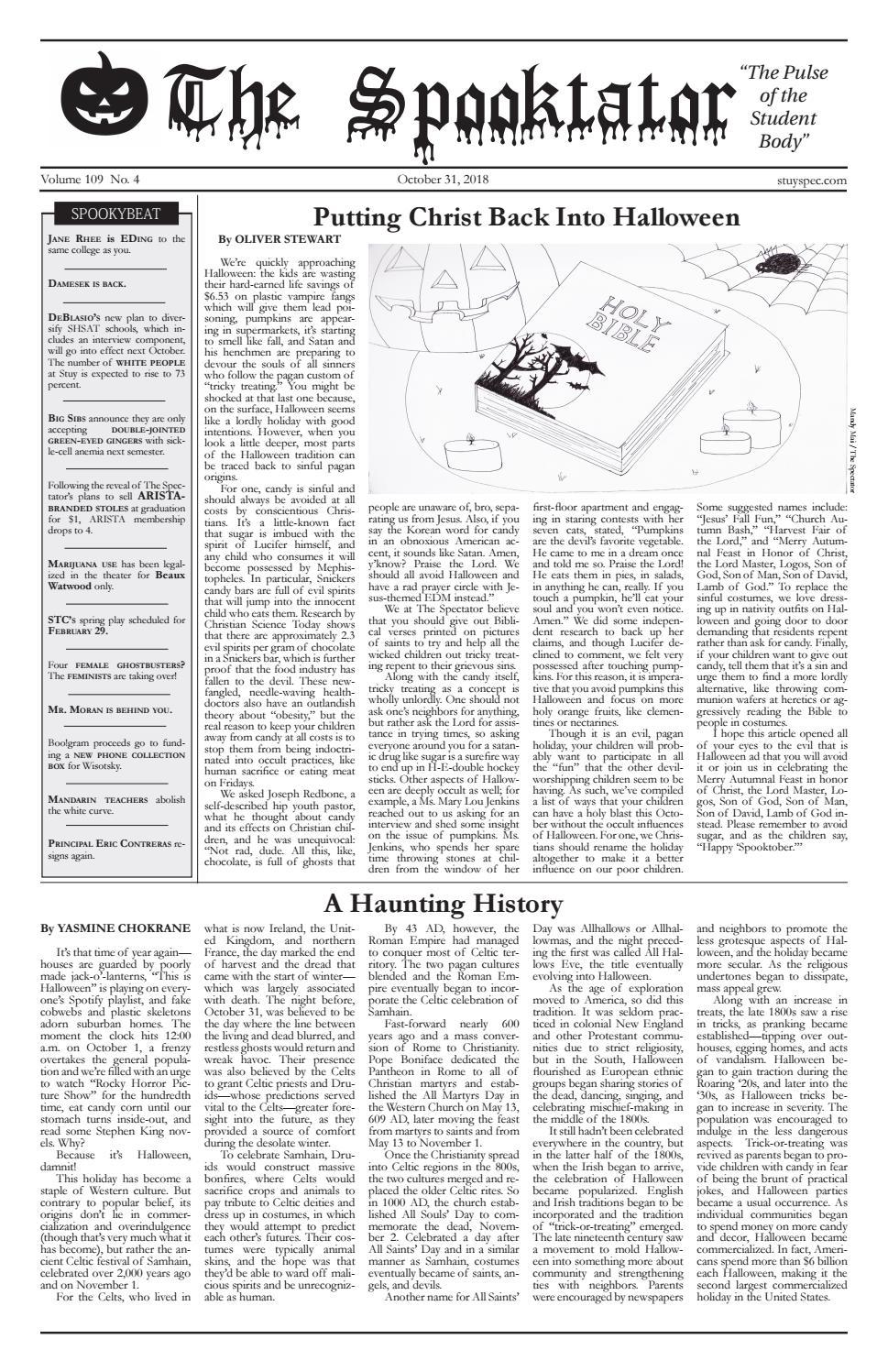 Volume 109, Issue 4 by The Stuyvesant Spectator - issuu