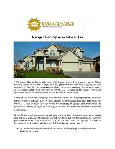 Garage Door Repair In Atlanta, GA