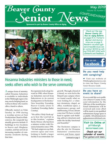 May 2019 Beaver County Senior News by Pittsburgh Senior News