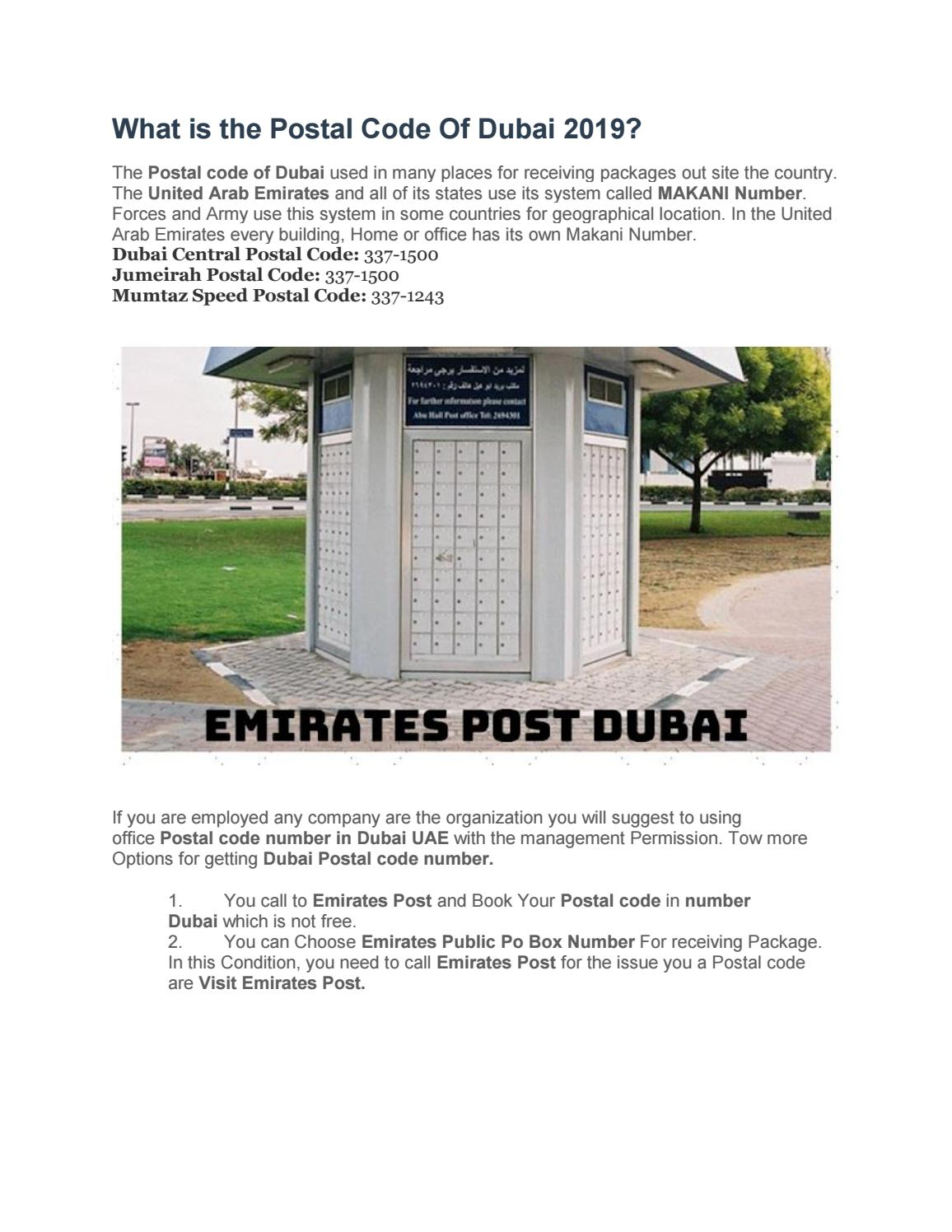 Postal code of Dubai Abu Dhabi and united Arab emirates by rafaqatdx