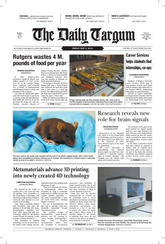 The Daily Targum 5 3 19 by The Daily Targum - issuu