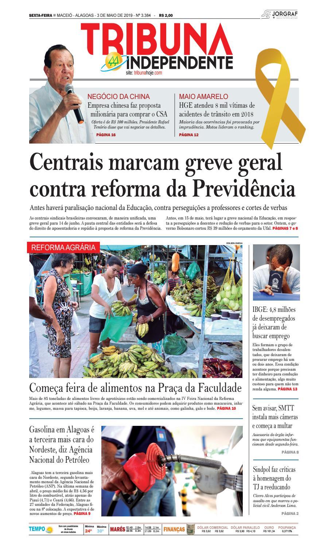 95b95144f Edição número 3384 - 3 de maio de 2019 by Tribuna Hoje - issuu