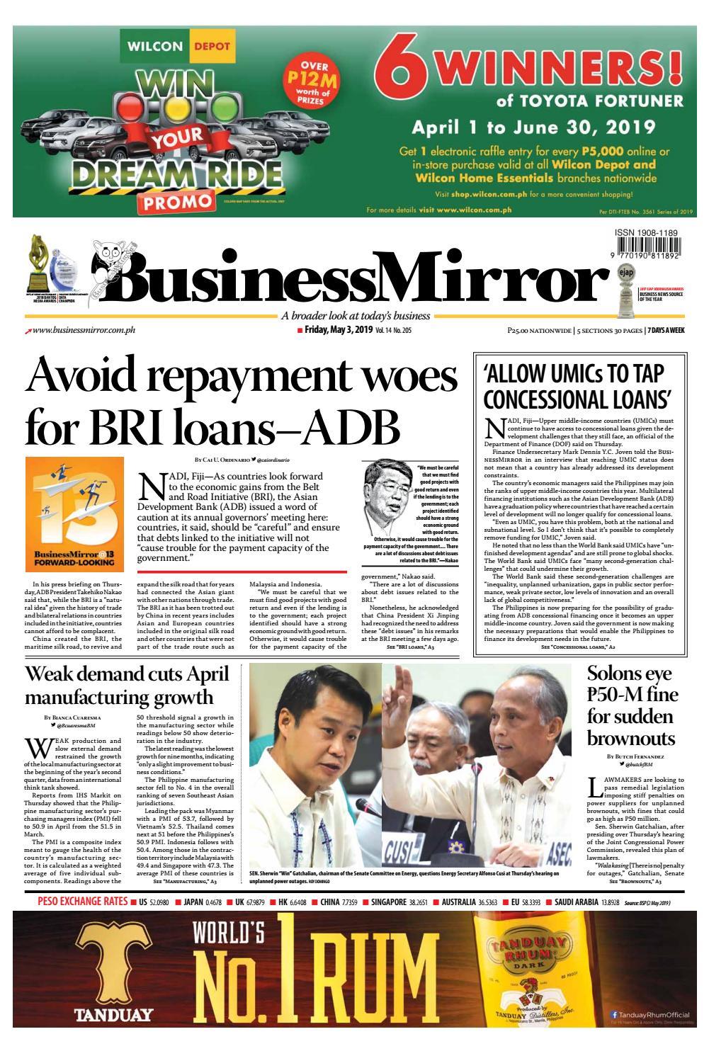 Businessmirror May 03, 2019 pdf by BusinessMirror - issuu