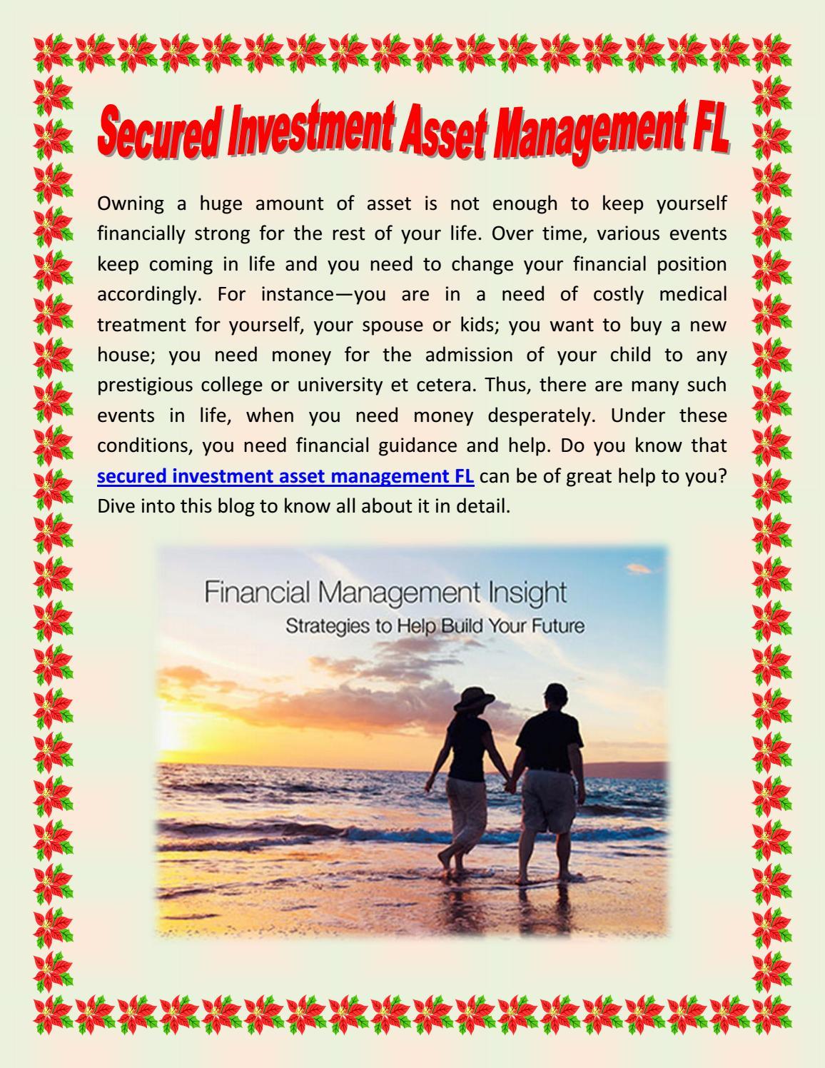 secured investment asset management FL