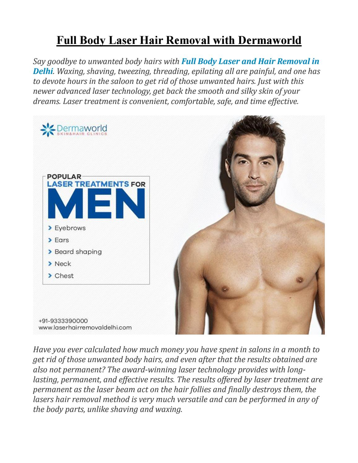 Full Body Laser Hair Removal With Dermaworld By Rohit Batra Issuu
