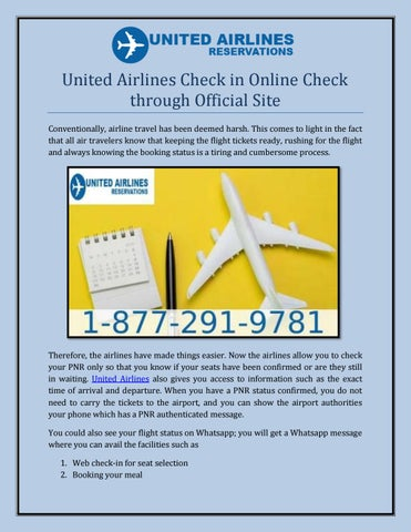 United Airlines Check in Online Check through Official Site by john