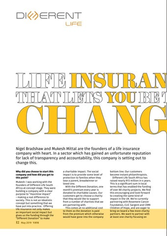 Page 12 of Life insurance that lets you be the change