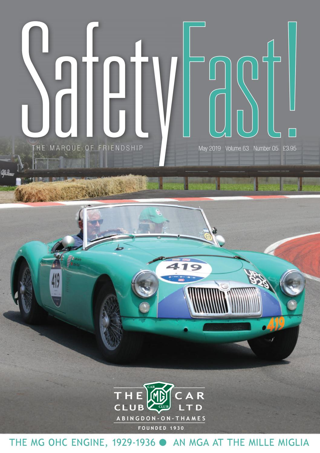Safety Fast! May 2019 by MG Car Club - issuu