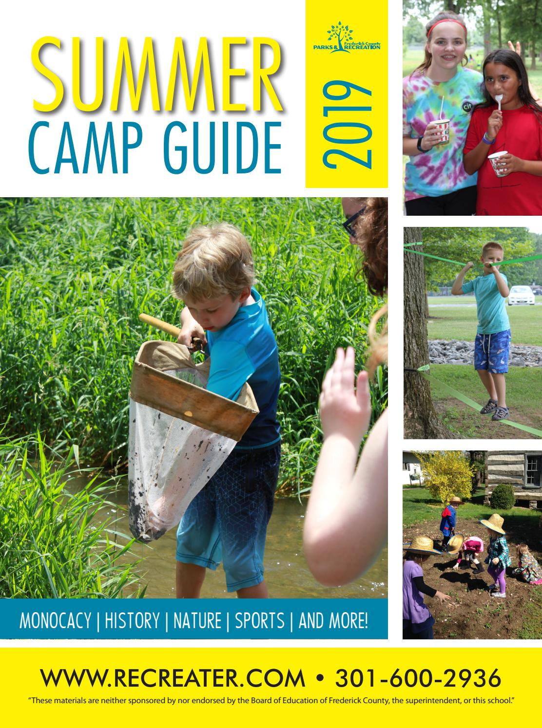 2019 Summer Camp Guide by Frederick County Parks and