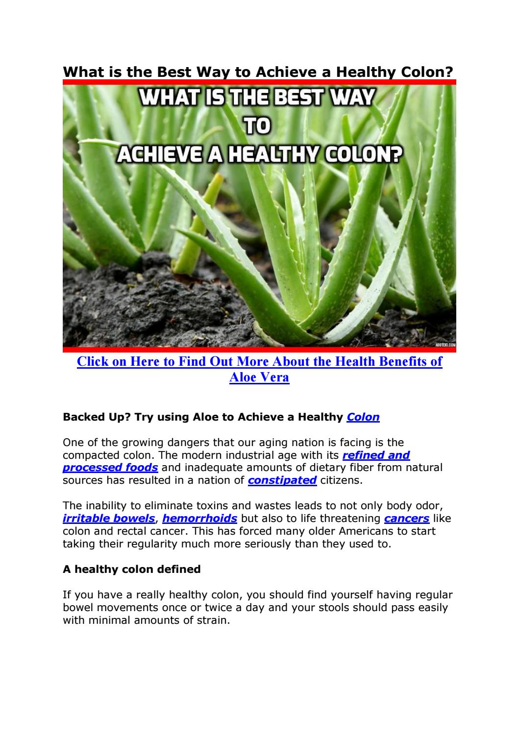What Is The Best Way To Achieve A Healthy Colon By Anti Aging Beauty Personal Care Issuu