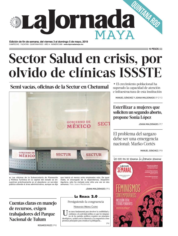 0b7e85b230f6 La Jornada Maya · viernes 3 de mayo de 2019 by La Jornada Maya - issuu