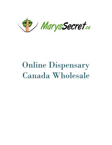 Online Dispensary Canada Wholesale - Marys Secret by Marys Secret