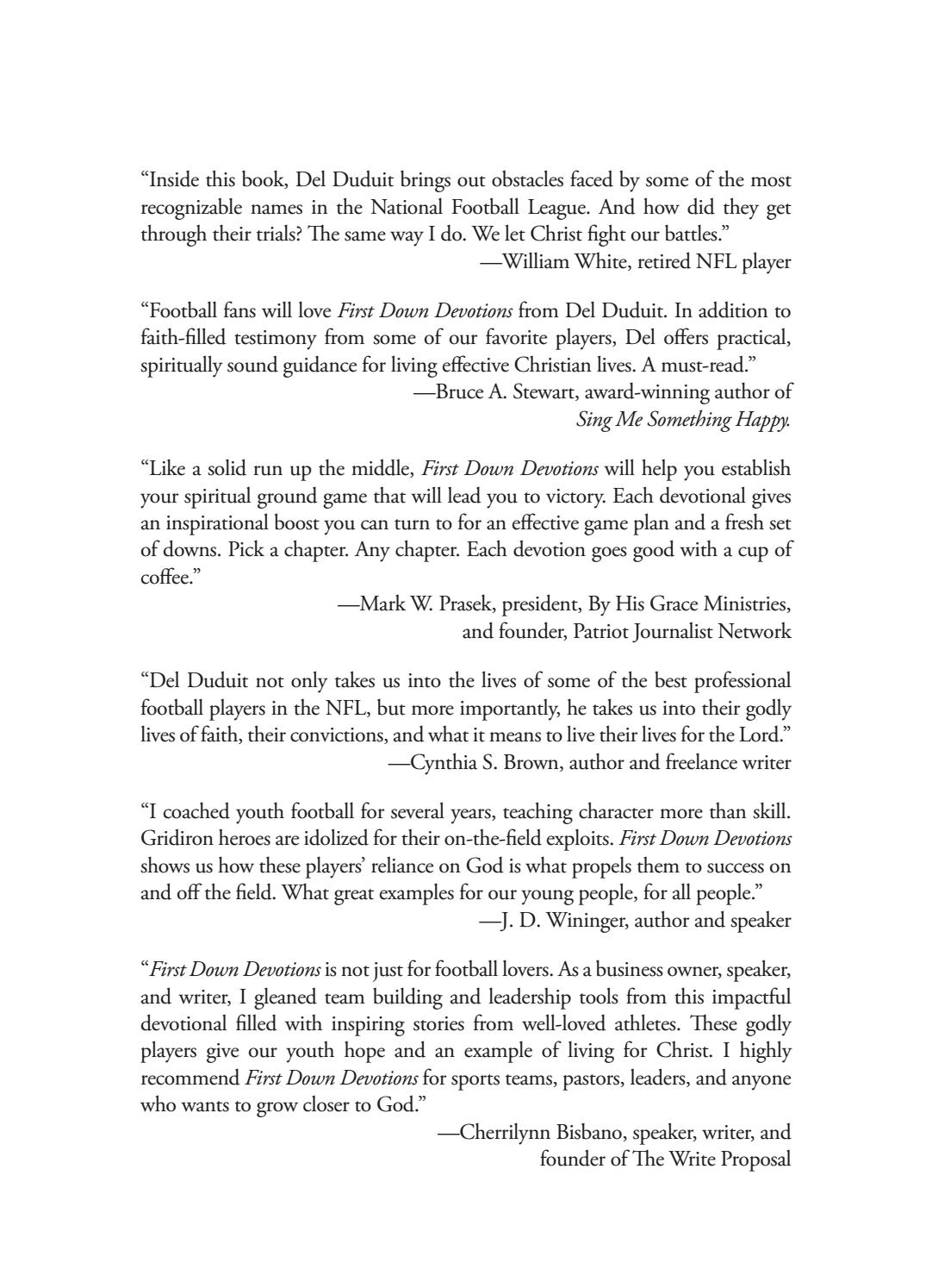 First Down Devotions Sample by Iron Stream Media - issuu