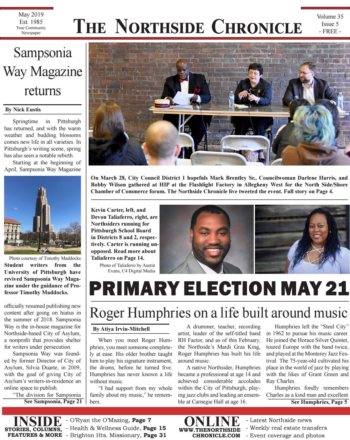 The Northside Chronicle, Pittsburgh - May 2019 by The