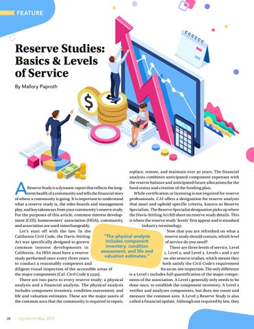 Page 28 of Reserve Studies: Basics & Levels of Service By Mallory Paproth