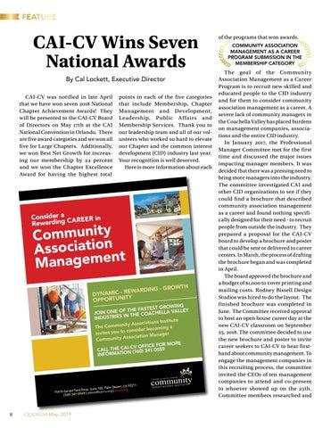 Page 8 of CAI-CV Wins Seven National Awards