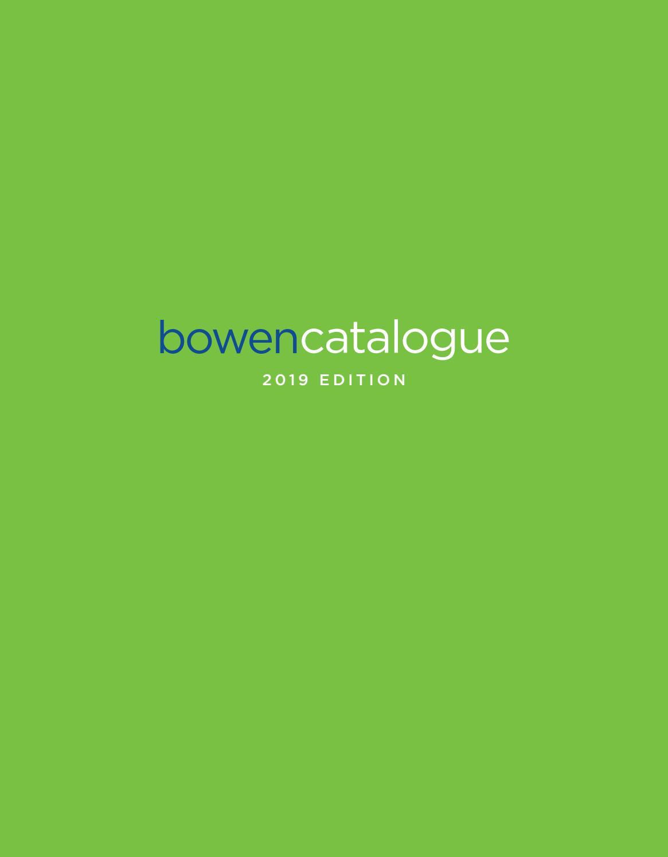Bowen Catalogue 2019 Edition by Bowen - issuu