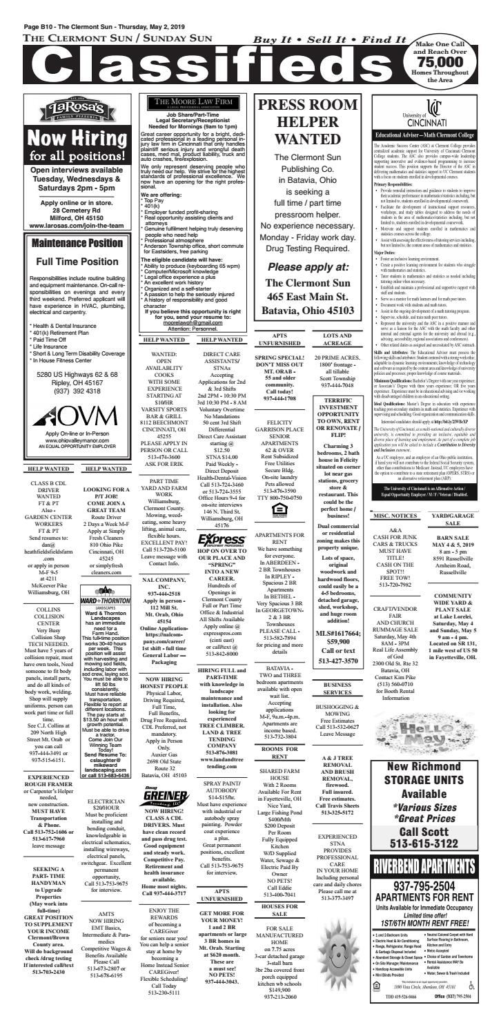 Clermont Sun Classifieds